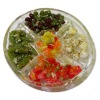 Yesenia Slater Handcrafted Filled Glass Antipasto Platter