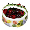Yesenia Slater Handcrafted Basket of Cherries