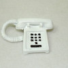 White Push Button Telephone