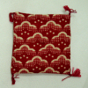 Soft Asian Red Pattern Cat Floor Pillow with Tassels