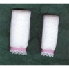 Pink Satin and Lace Trimmed Bath Towel Set