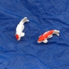 Pair of Koi - Red Cap and Orange and White