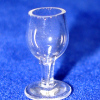 Real Clear Glass Wine or Water Goblet
