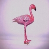 Dollhouse Miniature Pink Flamingo