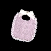 Handmade Lace Trimmed Pink Baby Bib