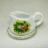 Ceramic Spring Flowers Gravy Boat Set