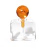 Clear Perfume Cologne Potion Bottle Amber Stopper