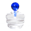 Ribbed Perfume Cologne or Potion Bottle Cobalt Blue Stopper