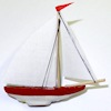Handcrafted Miniature Sailboat Boat Model