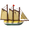 Handcrafted Schooner Sailing Ship Model