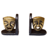 Nantasy Fantasy Comedy And Tragedy Theater Mask Bookends