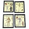 Nantasy Fantasy Aged Framed 4 Piece Medical Poster Set