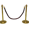 Nantasy Fantasy Stanchions with Red Velvet Rope