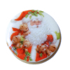 Santa Claus With Teddy Bears Ceramic Plate