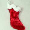 Hand Crafted Red Velvet Christmas Stocking