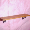 Cherry Wood Plate Shelf with Metal Brackets