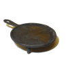 Handcrafted Rustic Griddle Frying Pan Skillet with Legs