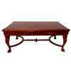 Carved Cherry Mahogany Large Desk or Conference Table