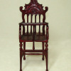 Carved Mahogany High Chair with Removable Tray