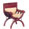 Medieval Upholstered and Carved Mahogany Chair