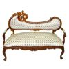 Ornate Carved and Upholstered Walnut Hinkley Sofa