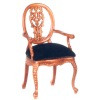 Le Petite Paulinese Arm Chair with Velvet Seat