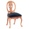 Le Petite Paulinese Side Chair with Velvet Seat