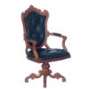 Morton Walnut Swivel Desk Chair