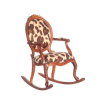 Exotic Faux Cheetah or Leopard Print Rocking Chair