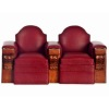 Double Leather Movie Theater Chair Row with Cup Holders