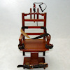 Dollhouse Miniature Old Sparky Wood Electric Chair
