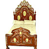 Bespaq Ri Mauldie Hand Carved and Painted Victorian Bed