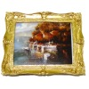 Sailboats On The Lake Picture in Ornate Gilded Frame