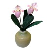 Paula Gilhooley Artisan Crafted Pink Orchid in Ceramic Pot