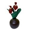 Paula Gilhooley Red Orchid in Pot