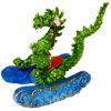 Handpainted Dragon Rocking Horse With Blue Base