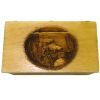 Opening 3D Carved Wood Fishing Scene Hope Chest Trunk