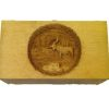 Opening 3D Carved Wood Moose Scene Hope Chest Trunk