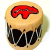 Prestige Leather Handcrafted Painted Tribal Drum with Bear