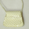 Prestige Leather Handcrafted White Snakeskin Square Handbag