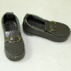 Prestige Leather Hand Crafted Unisex Gray Loafers