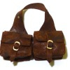 Prestige Leather Aged Opening Brown Leather Saddle Bags