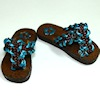 Prestige Leather Handcrafted Sandals Colorful Braided Straps