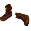 Prestige Leather Handcrafted Aged Brown Leather Work Boots