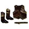 Prestige Leather Golden Western Vest Belt And Boots