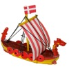 Handcrafted Wood Viking Ship Boat Model