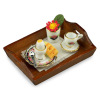 Reutter Porcelain Breakfast in Bed on Wood Tray
