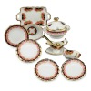 Reutter Porcelain Black Rose Dinner Set