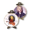 Reutter Porcelain Mozart and Bach Music Composer Plate Set