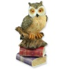 Wise Owl Statue With Books